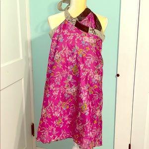 KARIZA silk-rayon versatile wrap dress/skirt